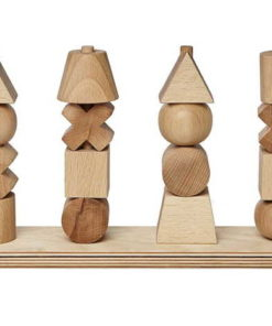 NATURAL STACKING TOY XL WOODEN STORY JUGUETE DE MADERA NATURAL EN JUGAJOC