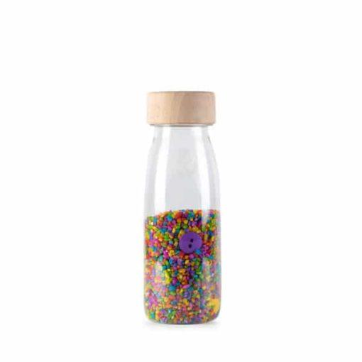 botella sensorial botones colores