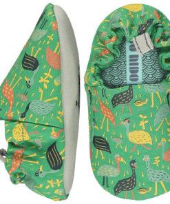 zapatitos bebé pájaros verde poco nido jugajoc